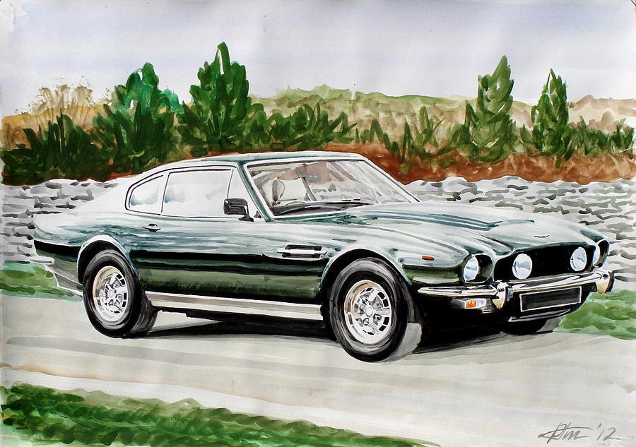 Aston Martin Acrylic Painting