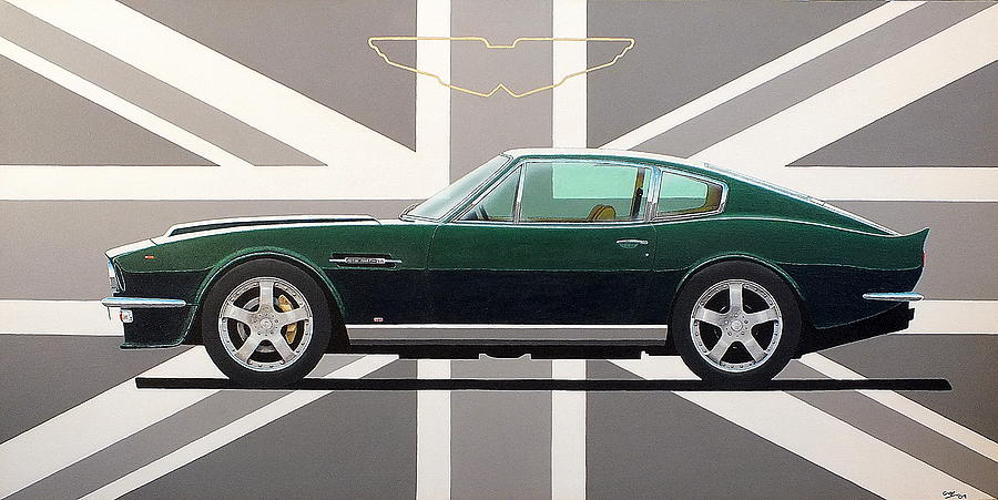 Aston Martin V8 Vantage Painting by Guy Pettingell