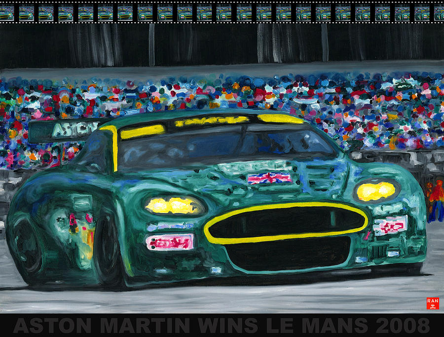 Aston Martin Wins Le Mans 2008 Pop by Ran Andrews
