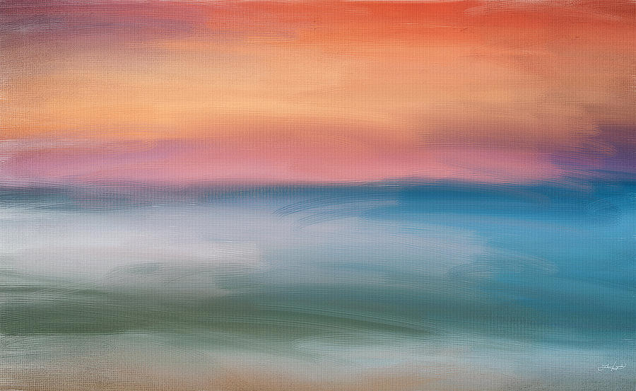 Abstract Seascape Digital Art - Astound by Lourry Legarde