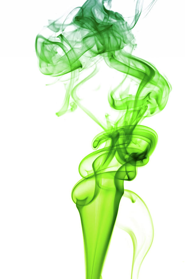 Astract Smoke Swirl In Green Photograph by Assalve