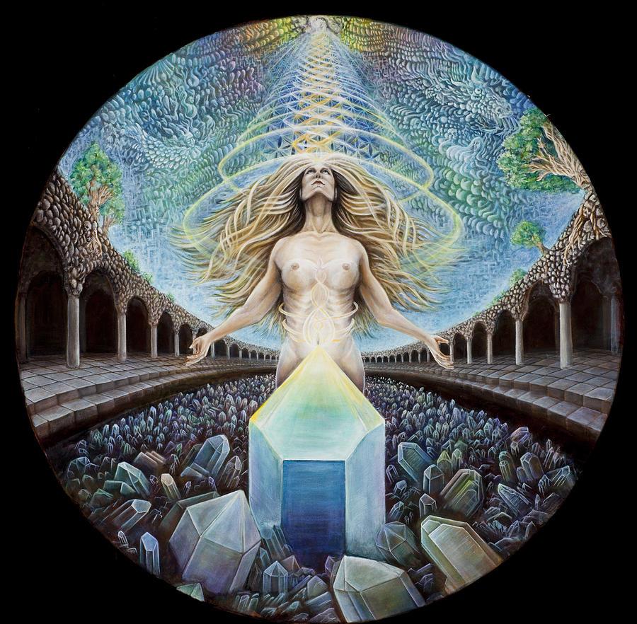 Crystal Painting - Astral Emergence by Morgan Mandala Manley