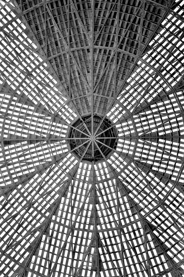 Houston Photograph - Astrodome Ceiling by Benjamin Yeager