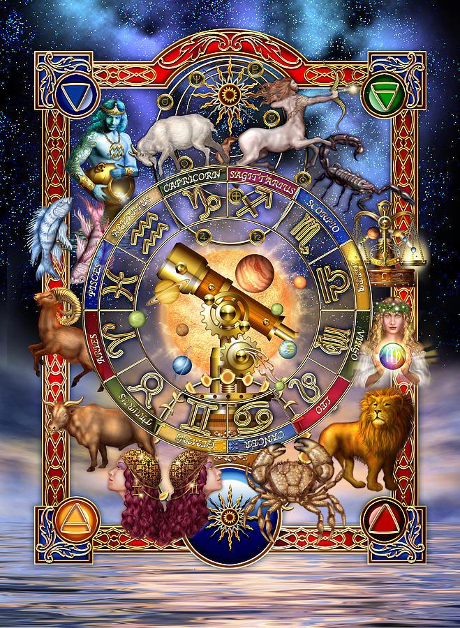 Astrological Digital Art - Astrology by Ciro Marchetti