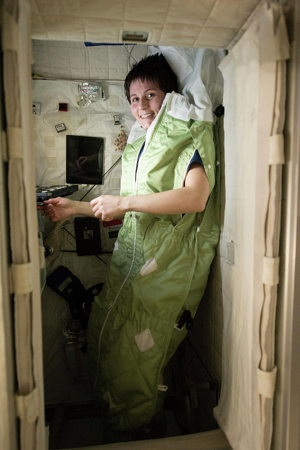 2014 Photograph - Astronaut Samantha Cristoforetti On Iss by Nasa
