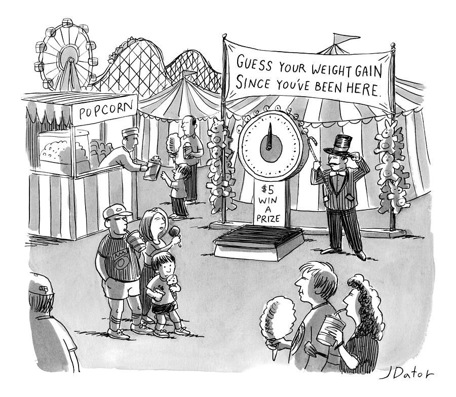 At A Carnival The Banner Reads Drawing by Joe Dator