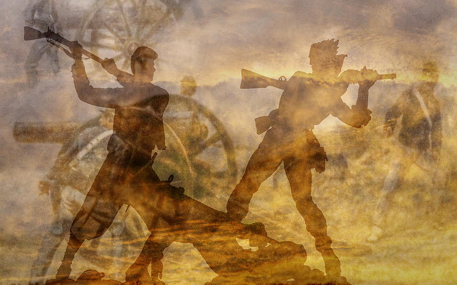 Confederate Digital Art - At A Place Called Gettysburg Ver Two by Randy Steele