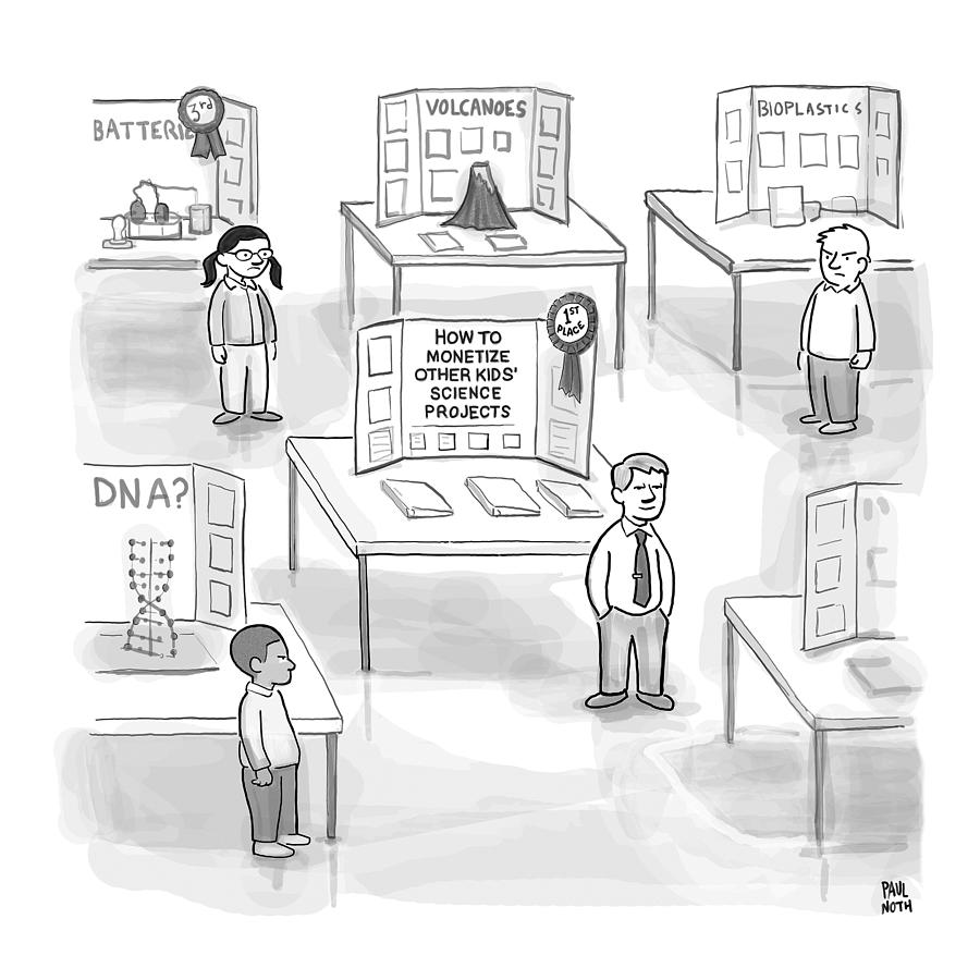 At A Science Fair Drawing by Paul Noth