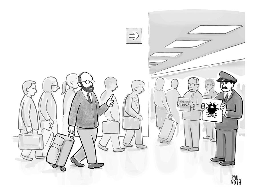 At An Airport Drawing by Paul Noth