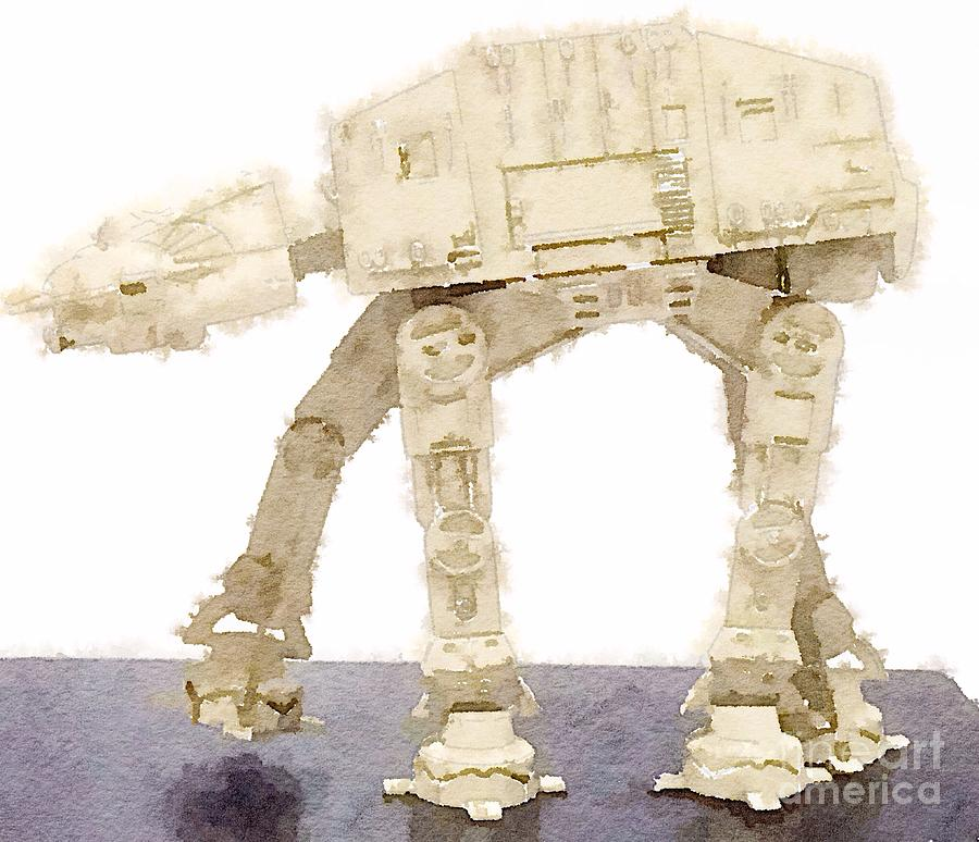 AT-AT All Terrain Armored Transport Painting by HELGE Art Gallery