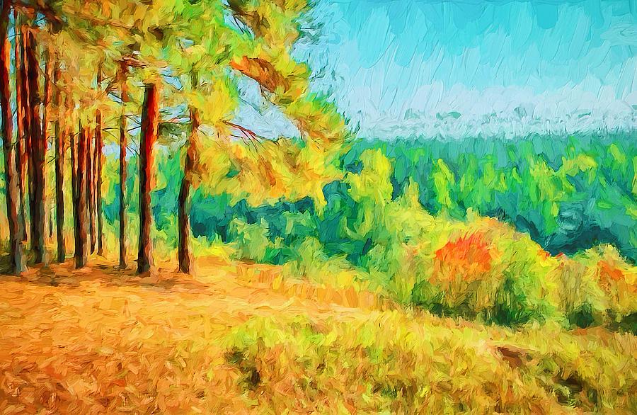 Simple Digital Art - At Autumn by Yury Malkov