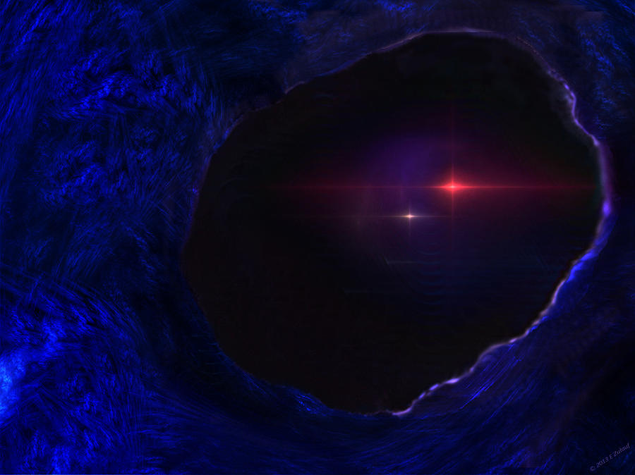 Cave Digital Art - At Caves Edge by Elizabeth S Zulauf