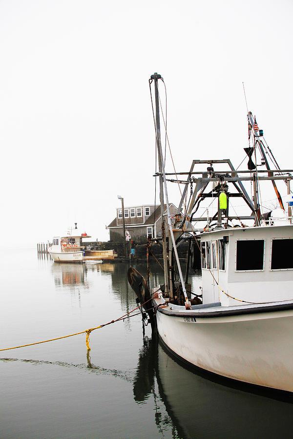 Boats Photograph - At Dock by Karol Livote