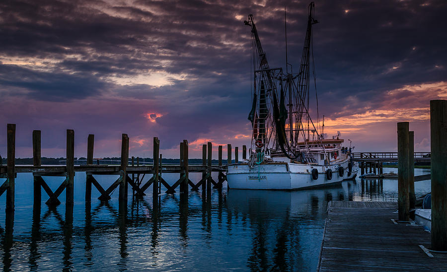 Shrimp Boat Photograph - At Dockside by Richard Kook