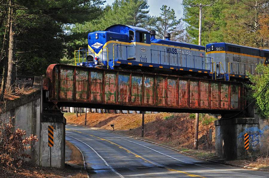 Train Photograph - At Gibbs Crossing by Mike Martin