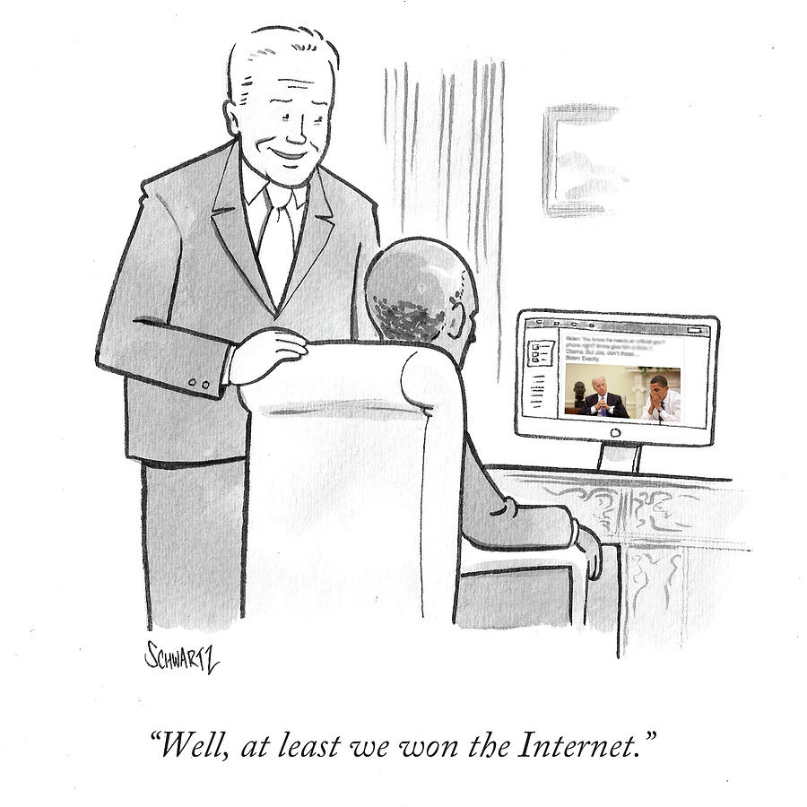 At Least We Won The Internet Drawing by Benjamin Schwartz