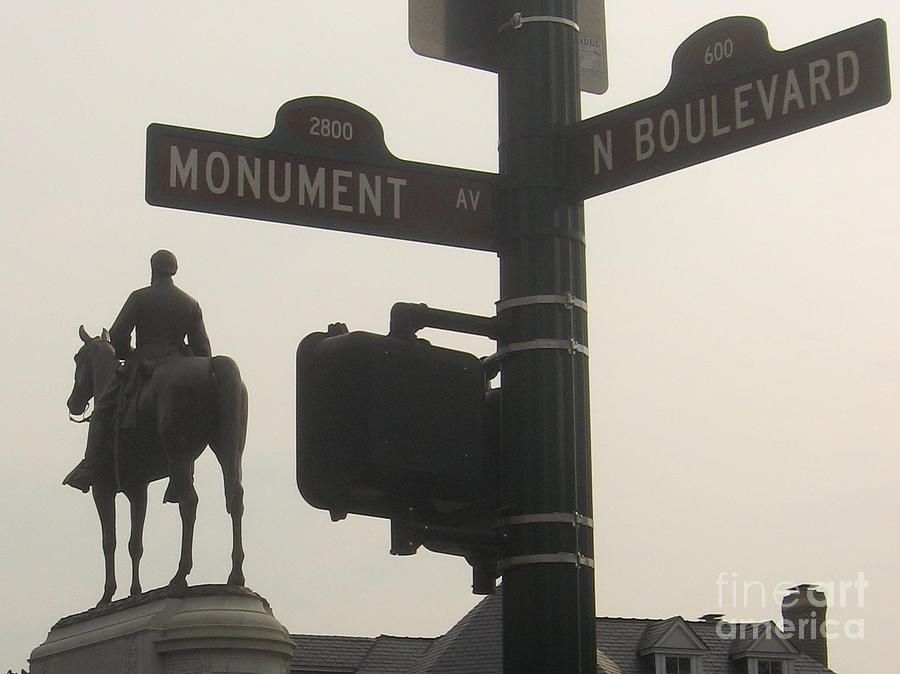 Virginia Photograph - at Monument and Boulevard by Nancy Dole McGuigan