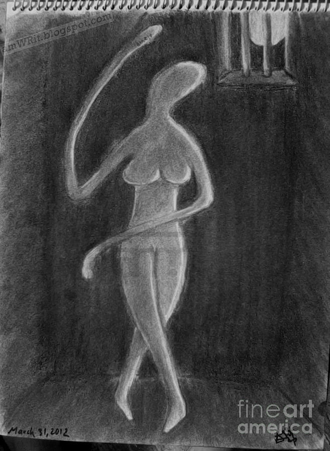 At Night Drawing by Amwrit Puri