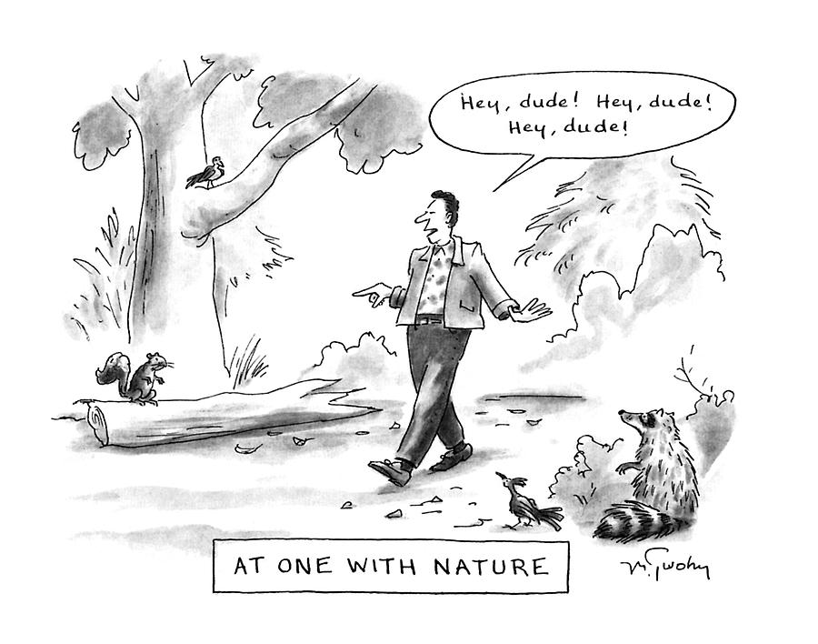 At One With Nature Drawing by Mike Twohy
