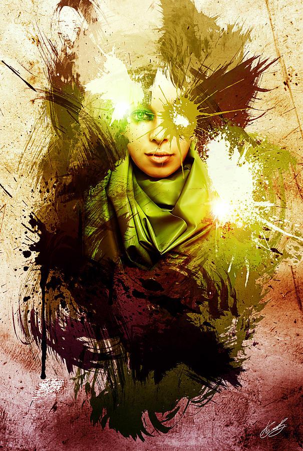 Beautiful Digital Art - At Peace by Aj Collyer