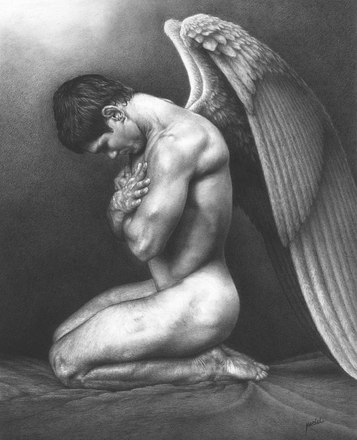 Gay Drawing - At Peace by Maciel Cantelmo
