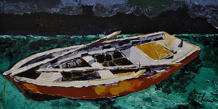 Boat Painting - At Rest by Vickie Warner