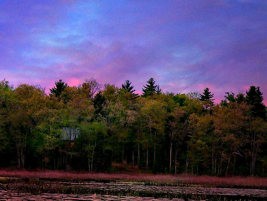 Scenic Photograph - At Sunset by Barbara S Nickerson