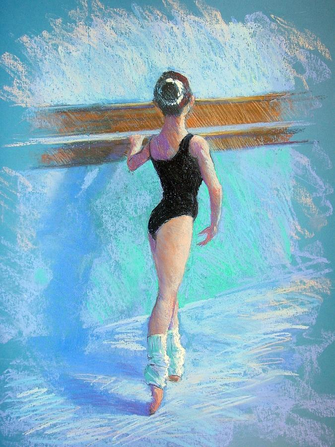 Ballet Painting - At The Barre by Jackie Simmonds