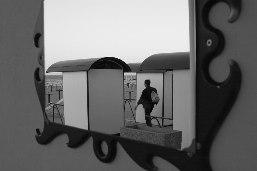 Adriatic Photograph - At The Beach - Monochrome by Ulrich Kunst And Bettina Scheidulin