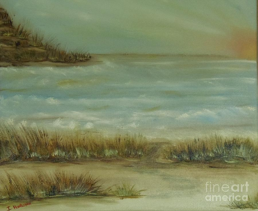 Beachscape Painting - At The Beach  by Isabel Honkonen