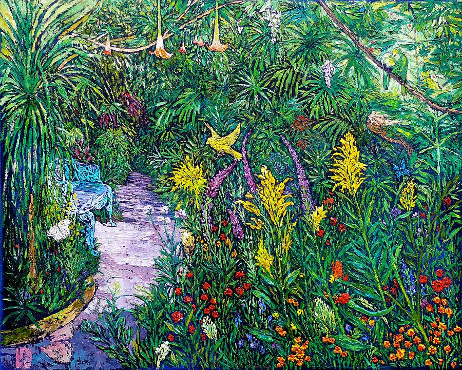 At the Butterfly Rainforest by Linda J Bean