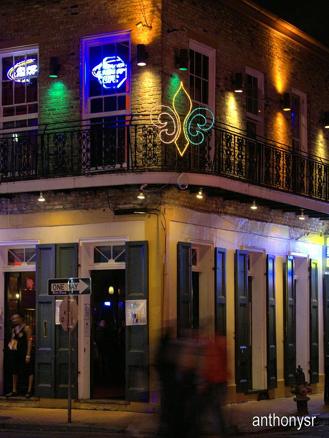 Club Photograph - At The  Club On Bourbon by Anthony Walker Sr