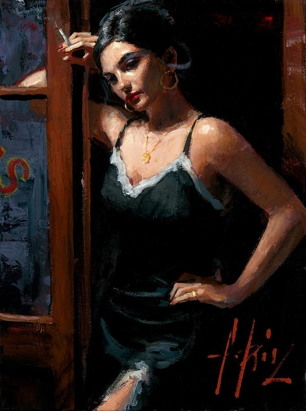 At The Door Iii Painting By Fabian Perez
