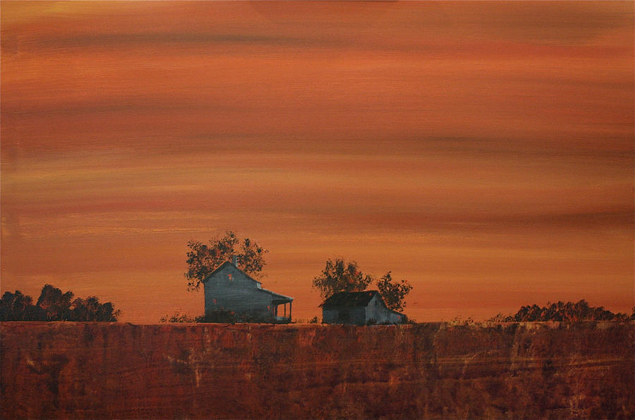 Landscape Painting - At The Edge Of The Day by William Renzulli