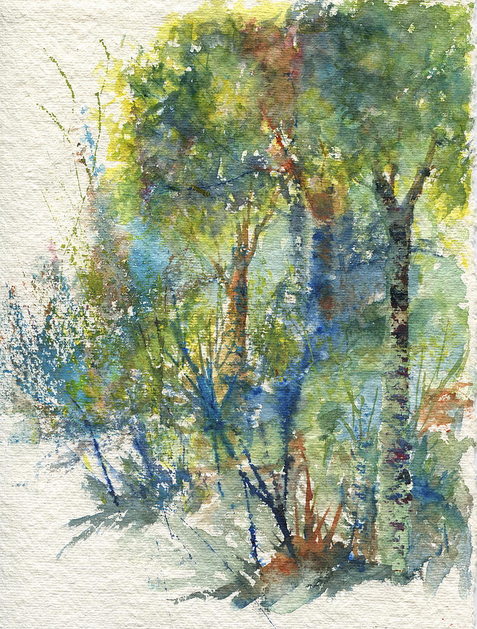 Forest Painting - At the Edge of the Woods by June Hunt
