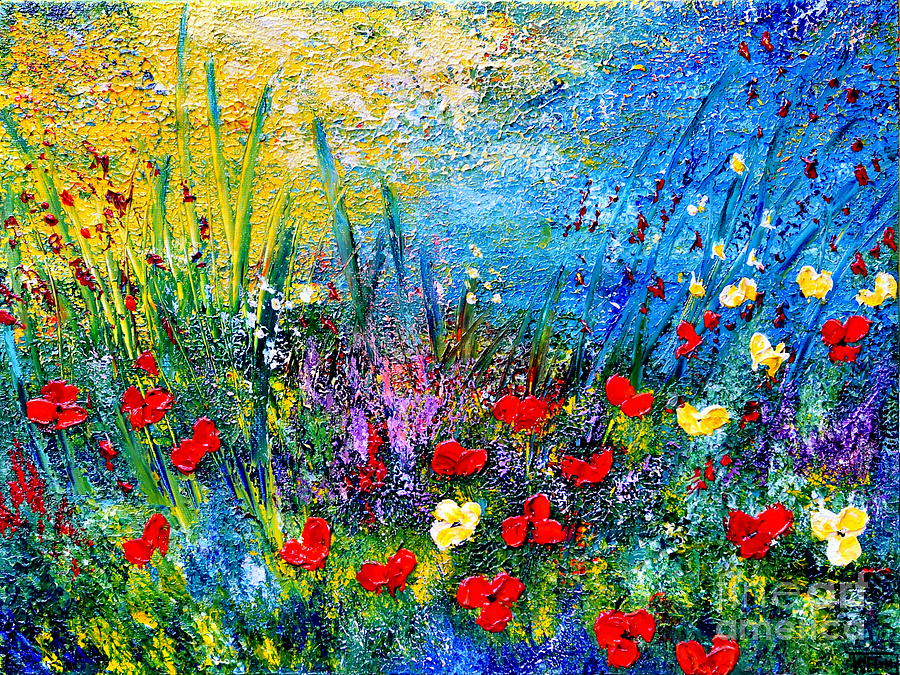 Abstract Painting - At The End Of The Day by Teresa Wegrzyn