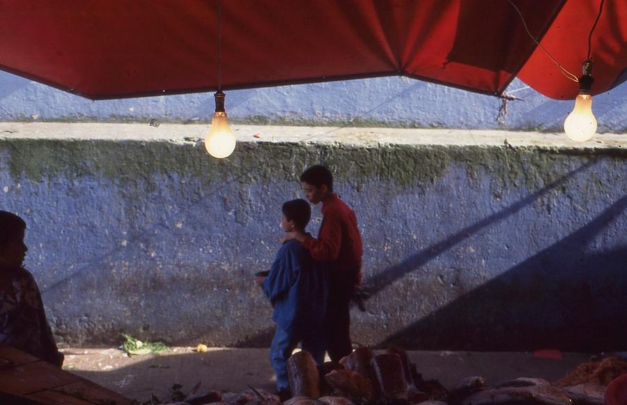 Red Photograph - At The Fish Market Casablanca 1996 by Rolf Ashby