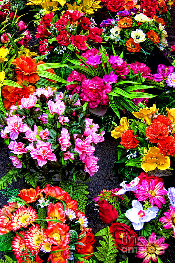 Flowers Photograph - At The Flower Market  by Olivier Le Queinec