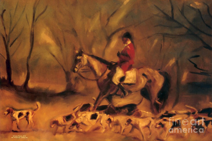 Online Shopping Painting - At the Fox Hunt by Karen E. Francis by Karen Francis
