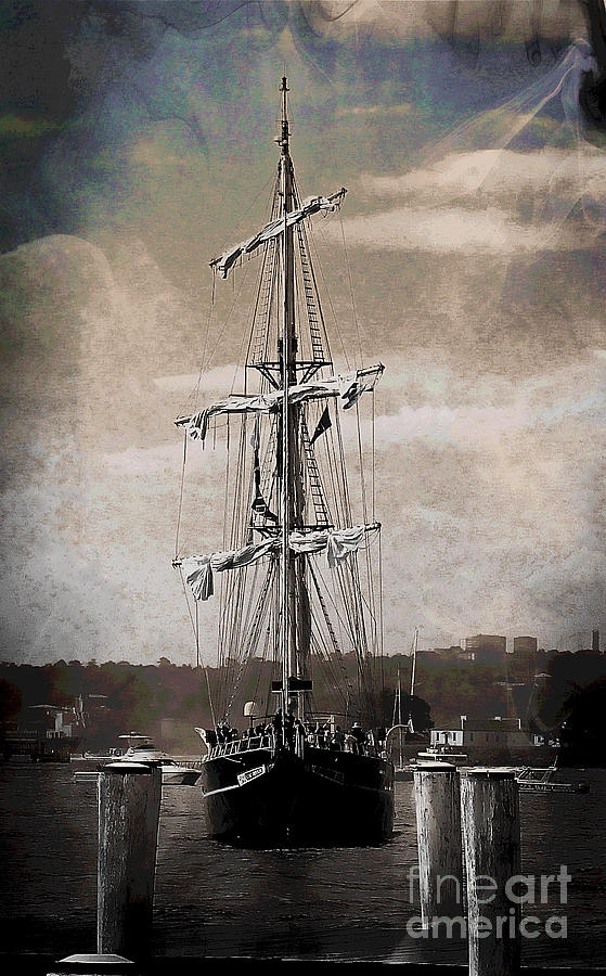 Ship Photograph - At The Harbor by Ben Yassa