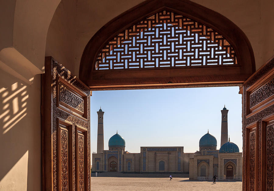 At the Khast Imam complex, Tashkent Photograph by Frans Sellies