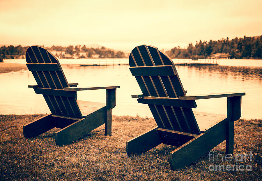 Lake Photograph - At The Lake by Edward Fielding