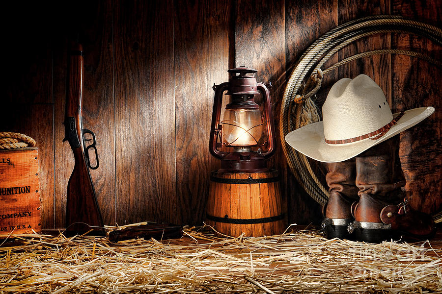 Western Photograph - At The Old Ranch by Olivier Le Queinec