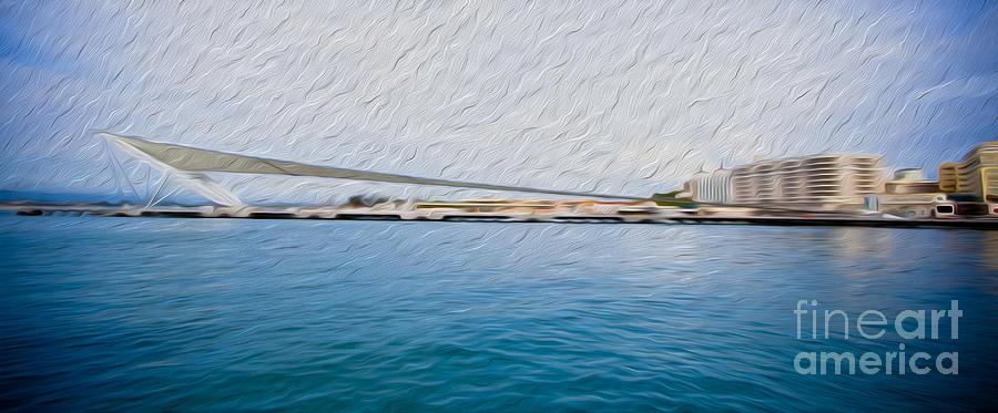 Eastern Caribbean Digital Art - At The Pier In San Juan Puerto Rico by Kenneth Montgomery
