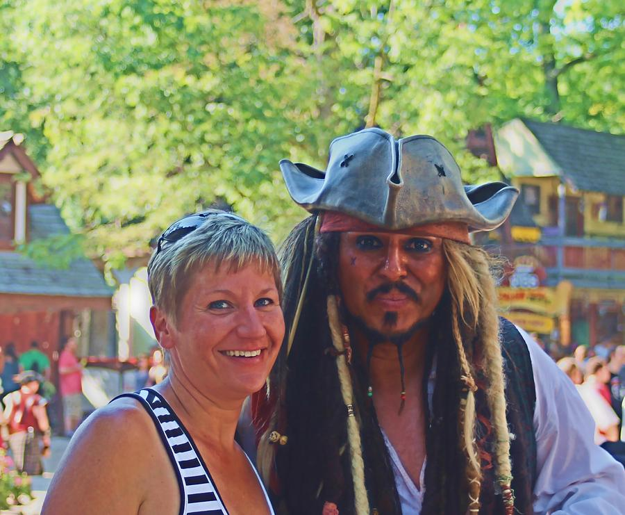Renaissance Mixed Media - At The Renaissance Fair by Victoria Sheldon