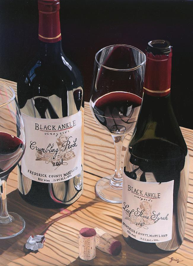 Red Wine Painting - At The Right Time by Brien Cole