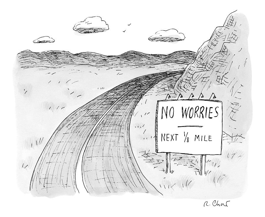 At The Side Of A Stretch Of Rural Road Drawing by Roz Chast