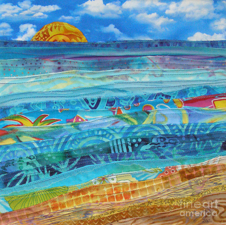 Beach Tapestry - Textile - At The Waters Edge by Susan Rienzo