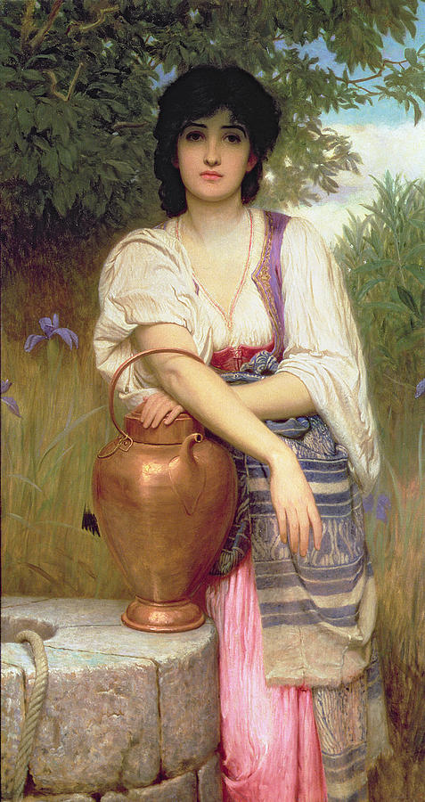 At The Well Painting By Charles Edward Perugini