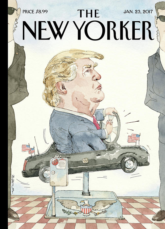 At The Wheel Painting by Barry Blitt